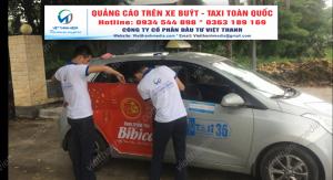 Quảng cáo các sản phẩm dịch vụ trên xe taxi  tại Thanh Hóa 0934 544 898