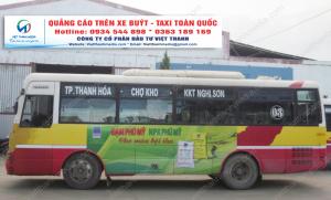 Quảng cáo bên trong xe buýt tại Thanh Hóa liên hệ 0934 544 898 - Thương hiệu Đạm Phú Mỹ