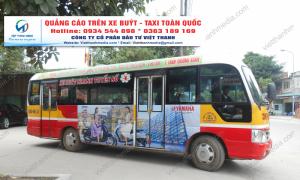Hình ảnh quảng cáo thương hiệu xe YAMAHA quảng cáo trên xe buýt tại Thanh Hóa 0934 544 898