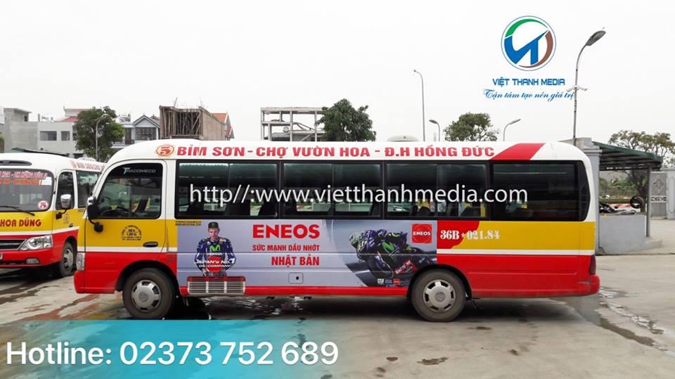 Quảng cáo trên xe Buýt Thương hiệu dầu nhờn ENEOS Nhật Bản tại Thanh Hóa 0934 544 898