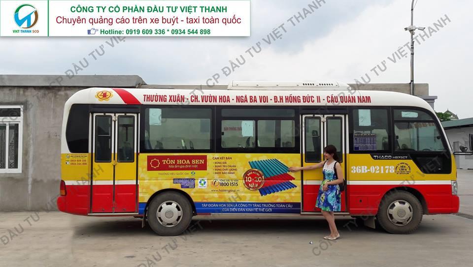 Quảng cáo trên xe buýt (bus) - taxi tại tỉnh Thanh Hóa LH 0934.544.898